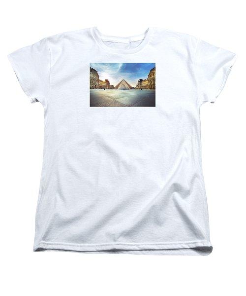 Louvre Museum Women's T-Shirt (Standard Cut) by Ivan Vukelic
