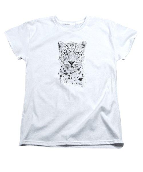 Lovely Leopard Women's T-Shirt (Standard Cut) by Balazs Solti