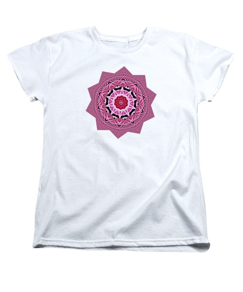 Loving Rose Mandala By Kaye Menner Women's T-Shirt (Standard Cut) by Kaye Menner
