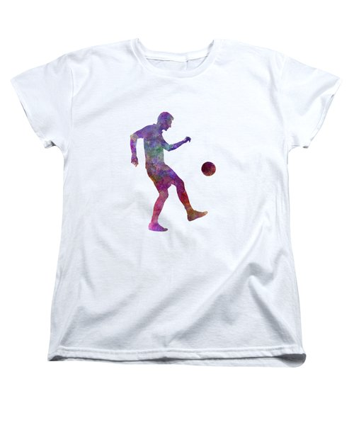 Man Soccer Football Player 04 Women's T-Shirt (Standard Cut) by Pablo Romero