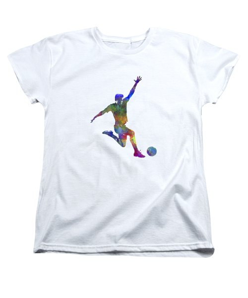Man Soccer Football Player 05 Women's T-Shirt (Standard Cut) by Pablo Romero