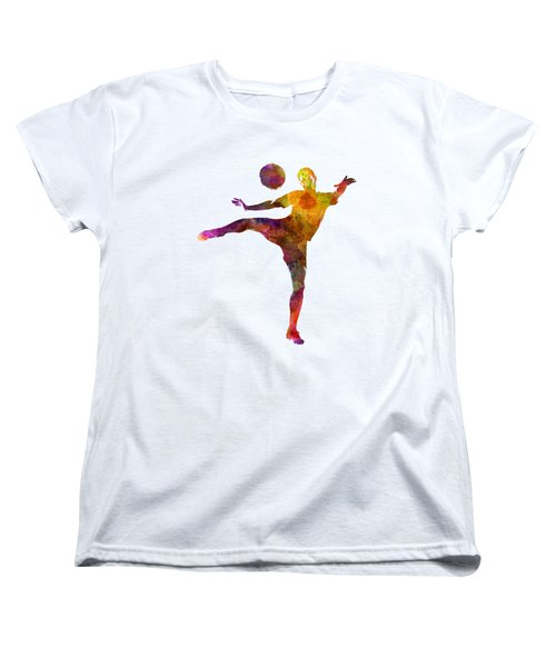 Man Soccer Football Player 07 Women's T-Shirt (Standard Cut) by Pablo Romero