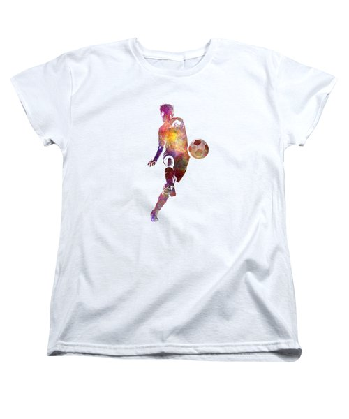 Man Soccer Football Player 10 Women's T-Shirt (Standard Cut) by Pablo Romero