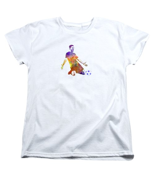 Man Soccer Football Player 13 Women's T-Shirt (Standard Cut) by Pablo Romero