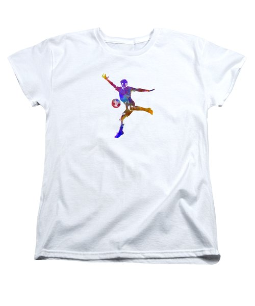 Man Soccer Football Player 14 Women's T-Shirt (Standard Cut) by Pablo Romero