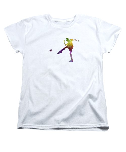 Man Soccer Football Player 15 Women's T-Shirt (Standard Cut) by Pablo Romero