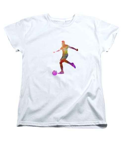 Man Soccer Football Player 16 Women's T-Shirt (Standard Cut) by Pablo Romero
