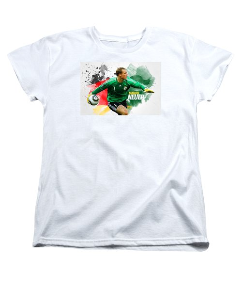 Manuel Neuer Women's T-Shirt (Standard Cut) by Semih Yurdabak