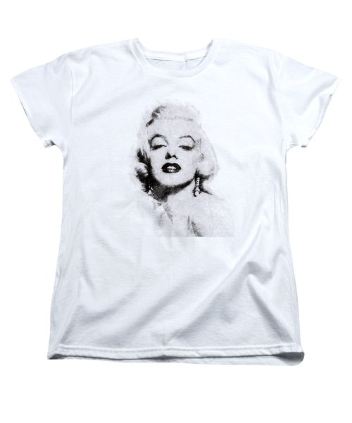 Marilyn Monroe Portrait 02 Women's T-Shirt (Standard Cut) by Pablo Romero