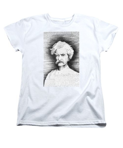 Mark Twain In His Own Words Women's T-Shirt (Standard Cut) by Phil Vance