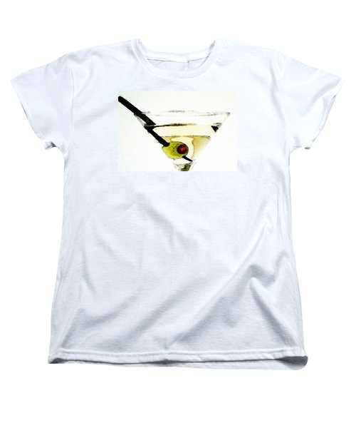 Martini With Green Olive Women's T-Shirt (Standard Cut) by Sharon Cummings