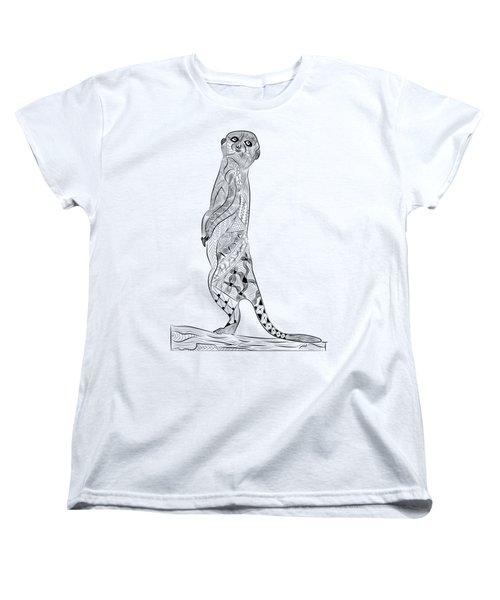 Meerkat Women's T-Shirt (Standard Cut) by Serkes Panda