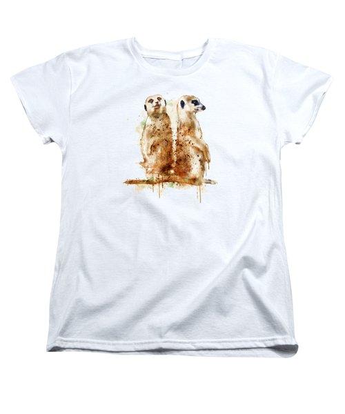 Meerkats Women's T-Shirt (Standard Cut) by Marian Voicu