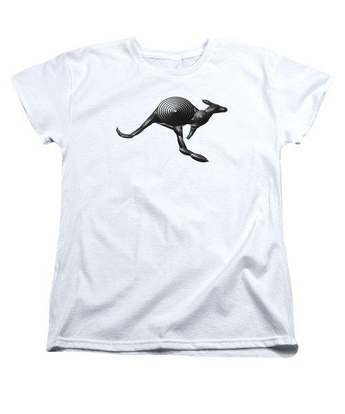 Metal Kangaroo Women's T-Shirt (Standard Cut) by Chris Butler