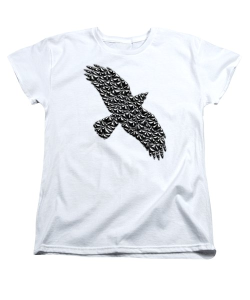 Metallic Crow Women's T-Shirt (Standard Cut) by Chris Butler