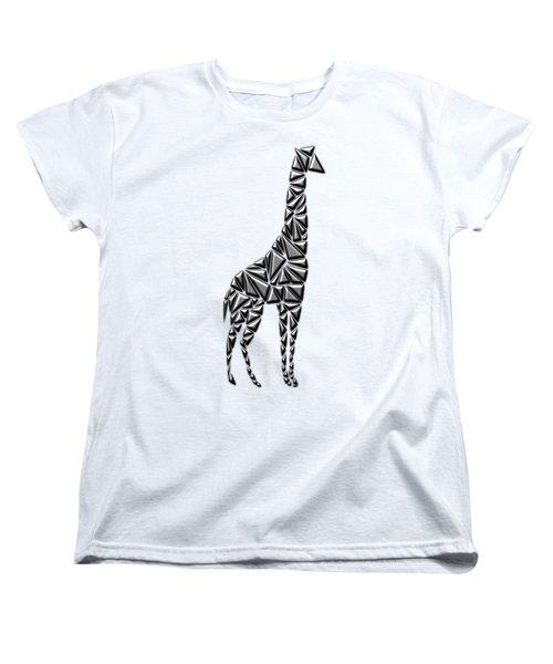 Metallic Giraffe Women's T-Shirt (Standard Cut) by Chris Butler