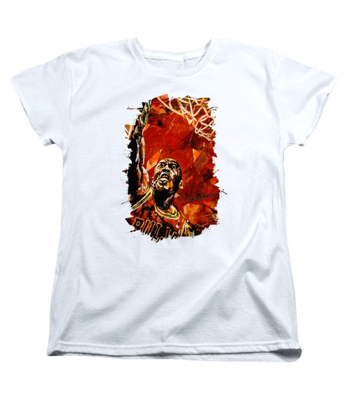 Michael Jordan Women's T-Shirt (Standard Cut) by Maria Arango