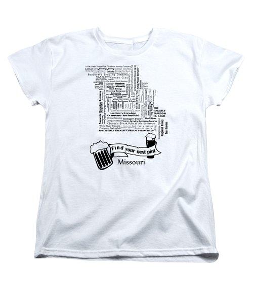 Micro Brew Missouri Women's T-Shirt (Standard Cut) by Ryan Burton