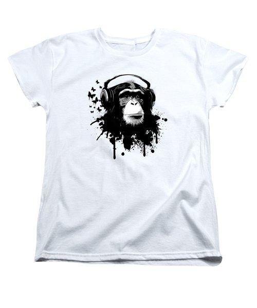 Monkey Business Women's T-Shirt (Standard Cut) by Nicklas Gustafsson