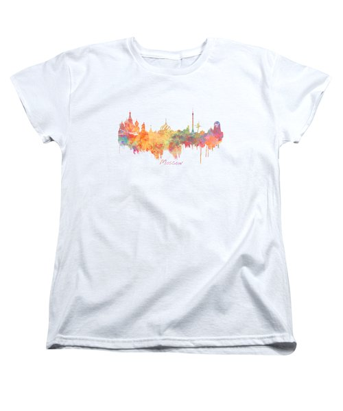 Moscow Russia Skyline City Women's T-Shirt (Standard Cut) by Justyna JBJart