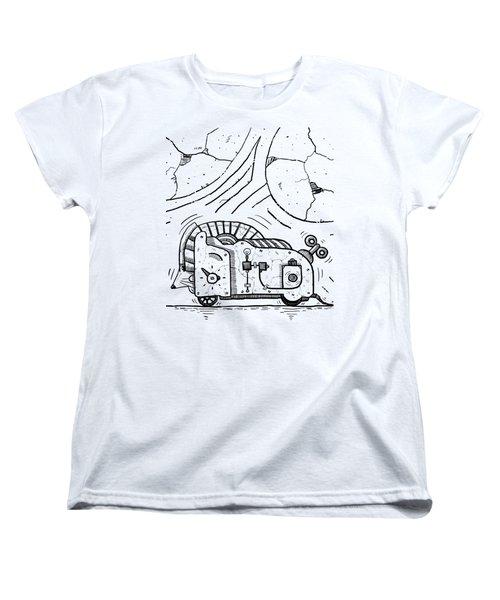 Moto Mouse Women's T-Shirt (Standard Cut) by Sotuland Art