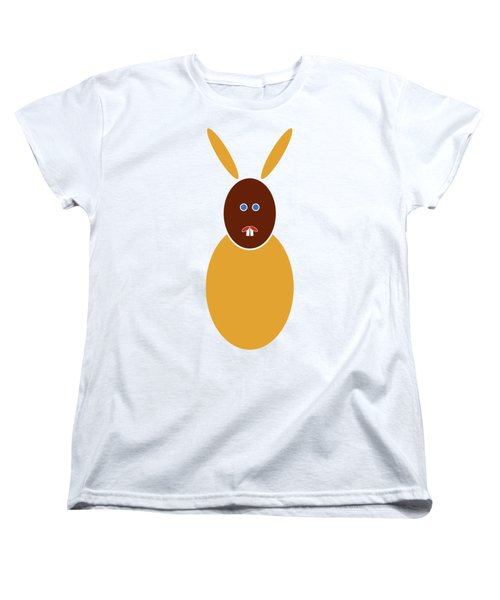 Mustard Bunny Women's T-Shirt (Standard Cut) by Frank Tschakert