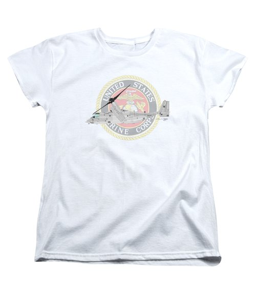 Mv-22bvmm-261 Women's T-Shirt (Standard Cut) by Arthur Eggers