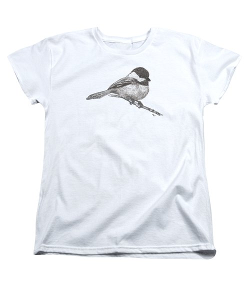 My Little Chickadee-dee-dee Women's T-Shirt (Standard Cut) by Mary-Ellen Arsenault