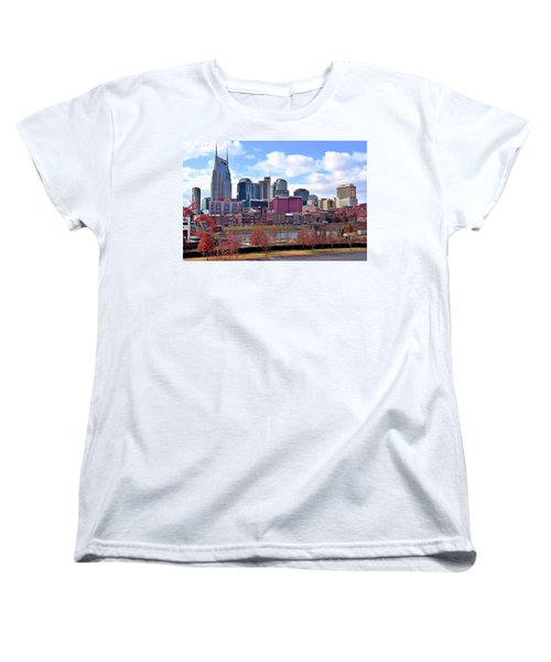 Nashville On The Riverfront Women's T-Shirt (Standard Cut) by Frozen in Time Fine Art Photography