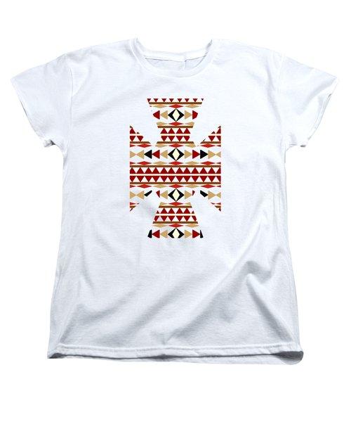 Navajo White Pattern Art Women's T-Shirt (Standard Cut) by Christina Rollo