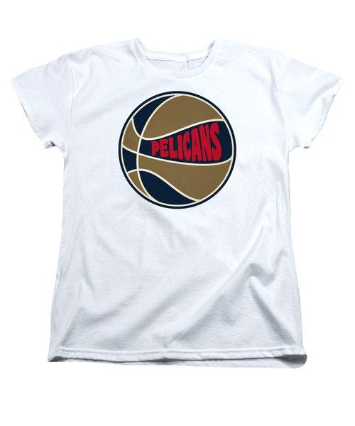 New Orleans Pelicans Retro Shirt Women's T-Shirt (Standard Cut) by Joe Hamilton