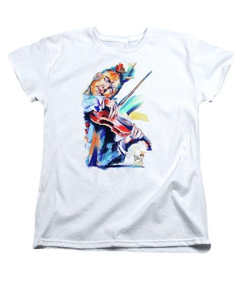 Nigel Kennedy Women's T-Shirt (Standard Cut) by Melanie D