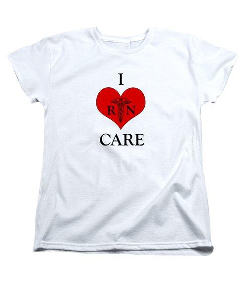 Nursing I Care -  Red Women's T-Shirt (Standard Cut) by Mark Kiver