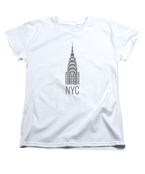 Nyc New York City Graphic Women's T-Shirt (Standard Cut) by Edward Fielding
