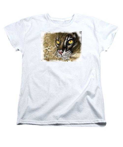 Ocelot Women's T-Shirt (Standard Cut) by Darren Cannell
