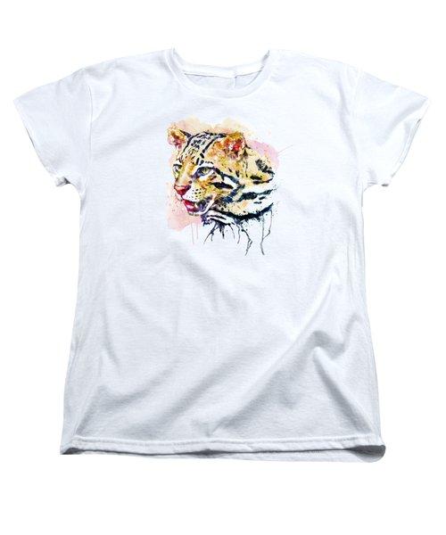 Ocelot Head Women's T-Shirt (Standard Cut) by Marian Voicu