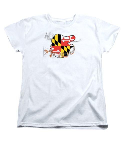 Oriole Sheet Music Design Women's T-Shirt (Standard Cut) by Justin Canose