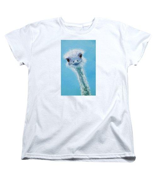 Ostrich Painting Women's T-Shirt (Standard Cut) by Jan Matson