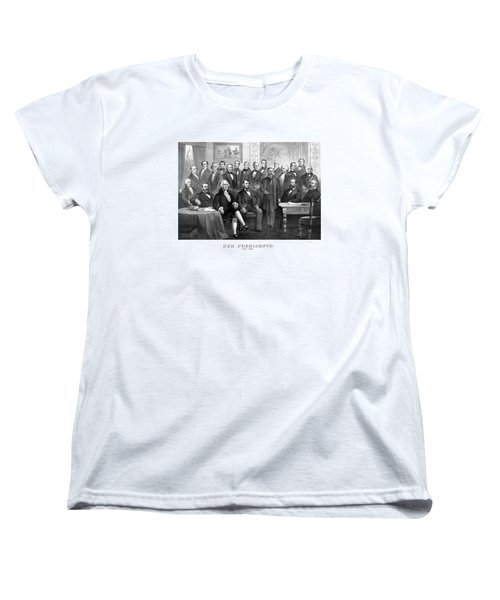 Our Presidents 1789-1881 Women's T-Shirt (Standard Cut) by War Is Hell Store