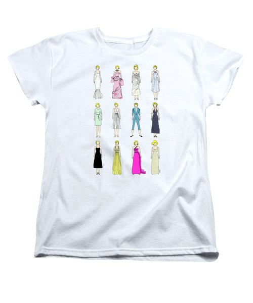 Outfits Of Marilyn Fashion Women's T-Shirt (Standard Cut) by Notsniw Art