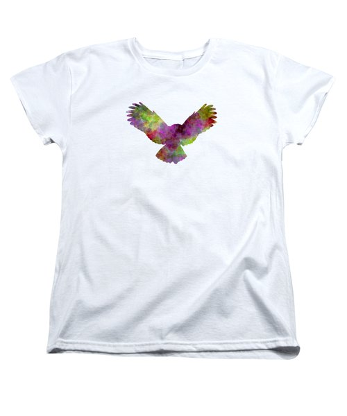 Owl 02 In Watercolor Women's T-Shirt (Standard Cut) by Pablo Romero