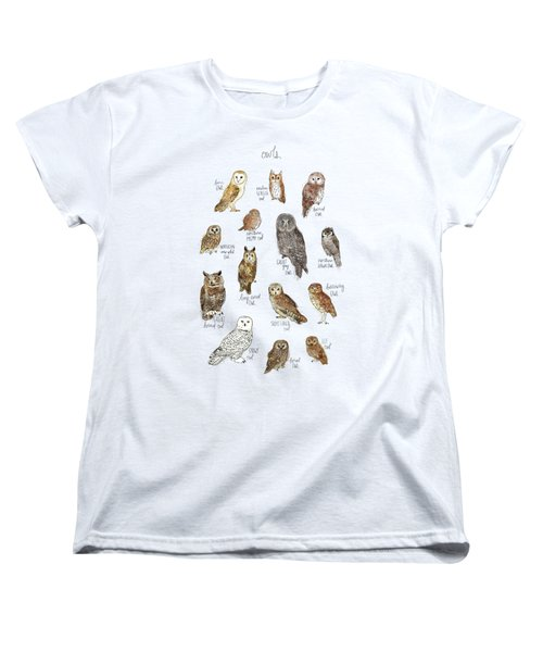 Owls Women's T-Shirt (Standard Cut) by Amy Hamilton