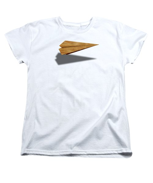 Paper Airplanes Of Wood 9 Women's T-Shirt (Standard Cut) by YoPedro