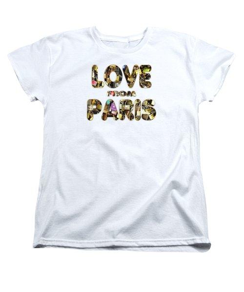 Paris City Of Love And Lovelocks Women's T-Shirt (Standard Cut) by Georgeta Blanaru
