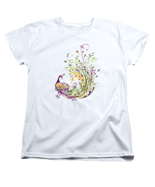 Peacock Women's T-Shirt (Standard Cut) by Bekare Creative