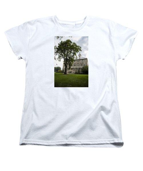 Penn State Old Main From Side  Women's T-Shirt (Standard Cut) by John McGraw