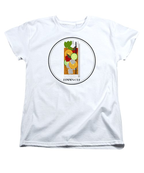 Pimm's Cup Cocktail In Art Deco  Women's T-Shirt (Standard Cut) by Cecely Bloom