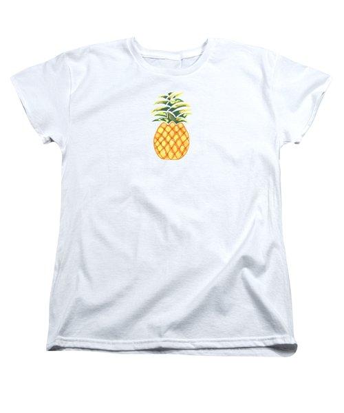 Pineapple Women's T-Shirt (Standard Cut) by Kathleen Sartoris