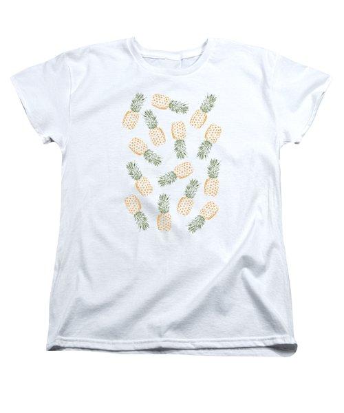 Pineapples Women's T-Shirt (Standard Cut) by Rui Faria