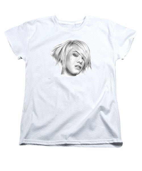 Pink Women's T-Shirt (Standard Cut) by Greg Joens